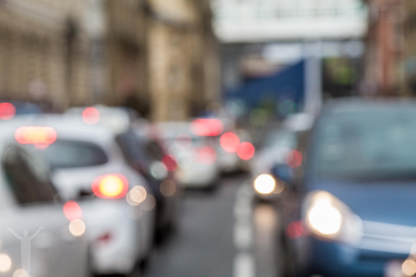 Trafikerad gata i Newcastle