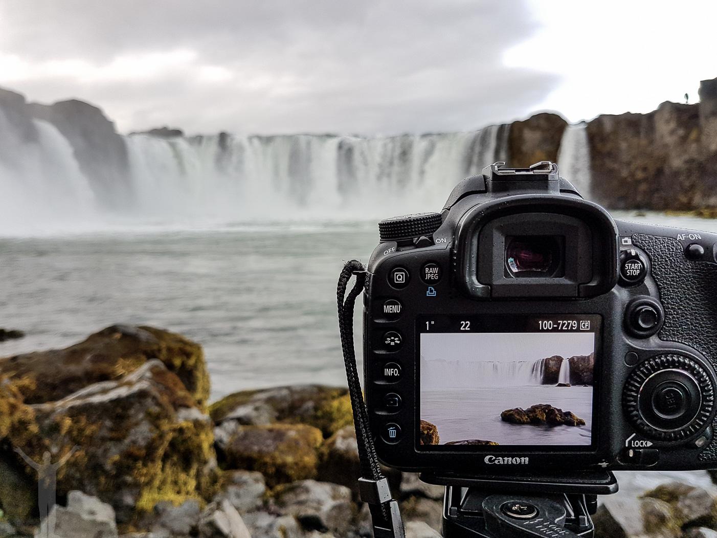 Att fotografera ett vattenfall