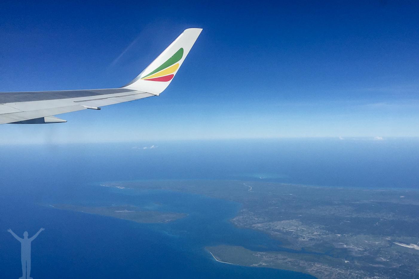 Ethiopian Airlines lyfter från Zanzibar