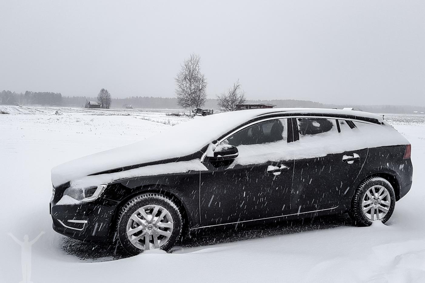 Snön ramlade ner