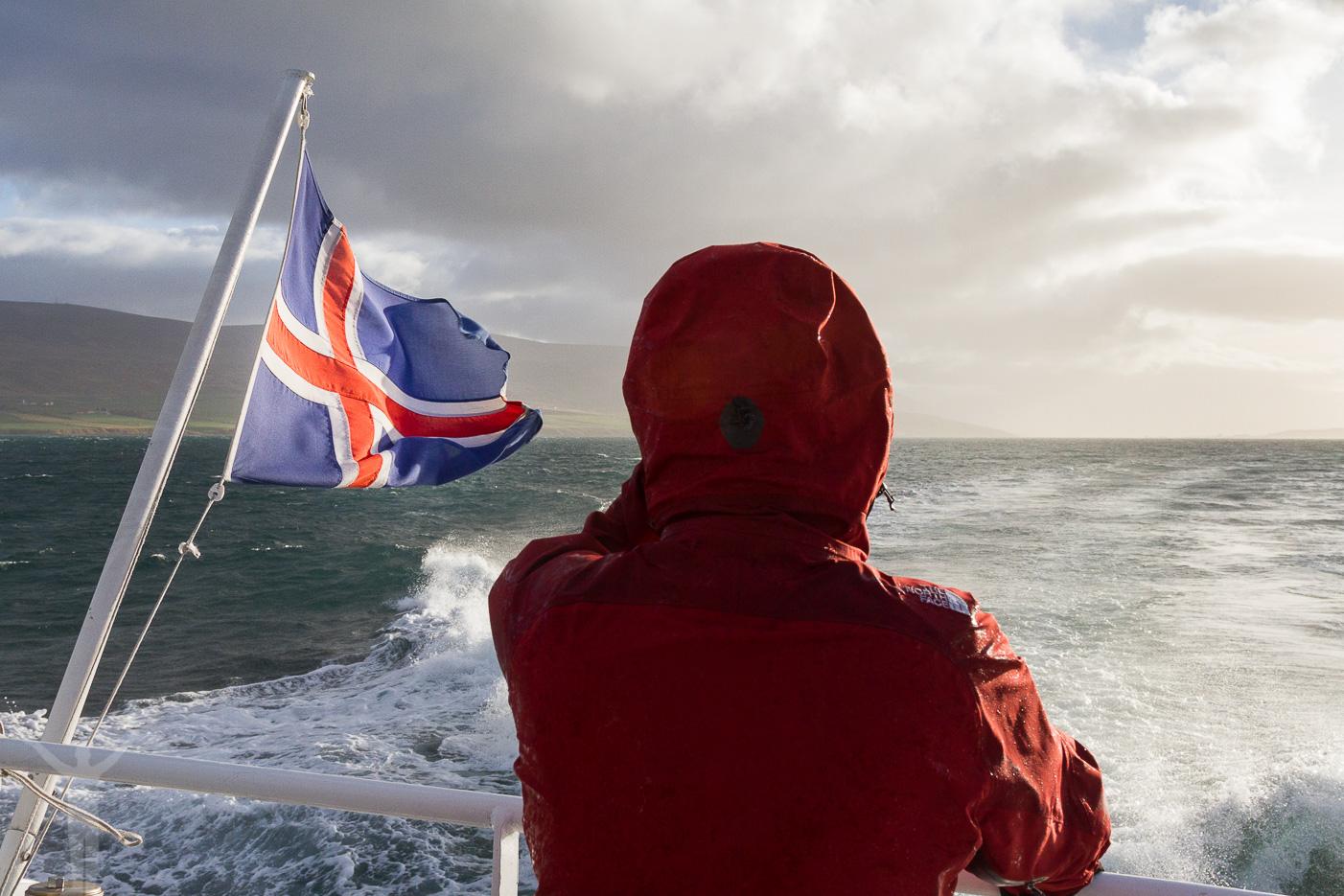 Blåsigt på båten