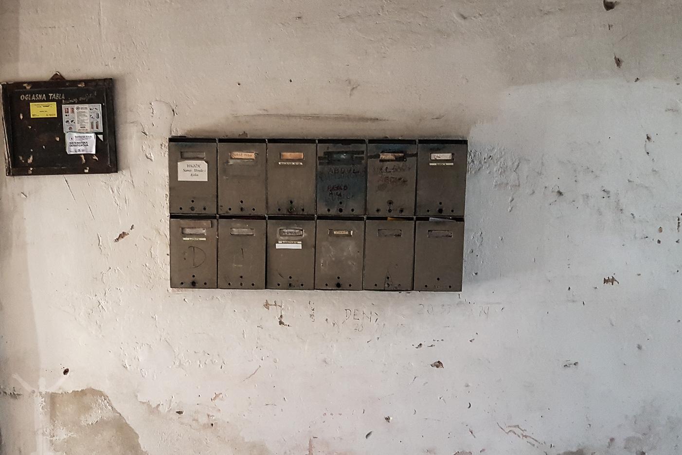Postboxar i Corso Apartments