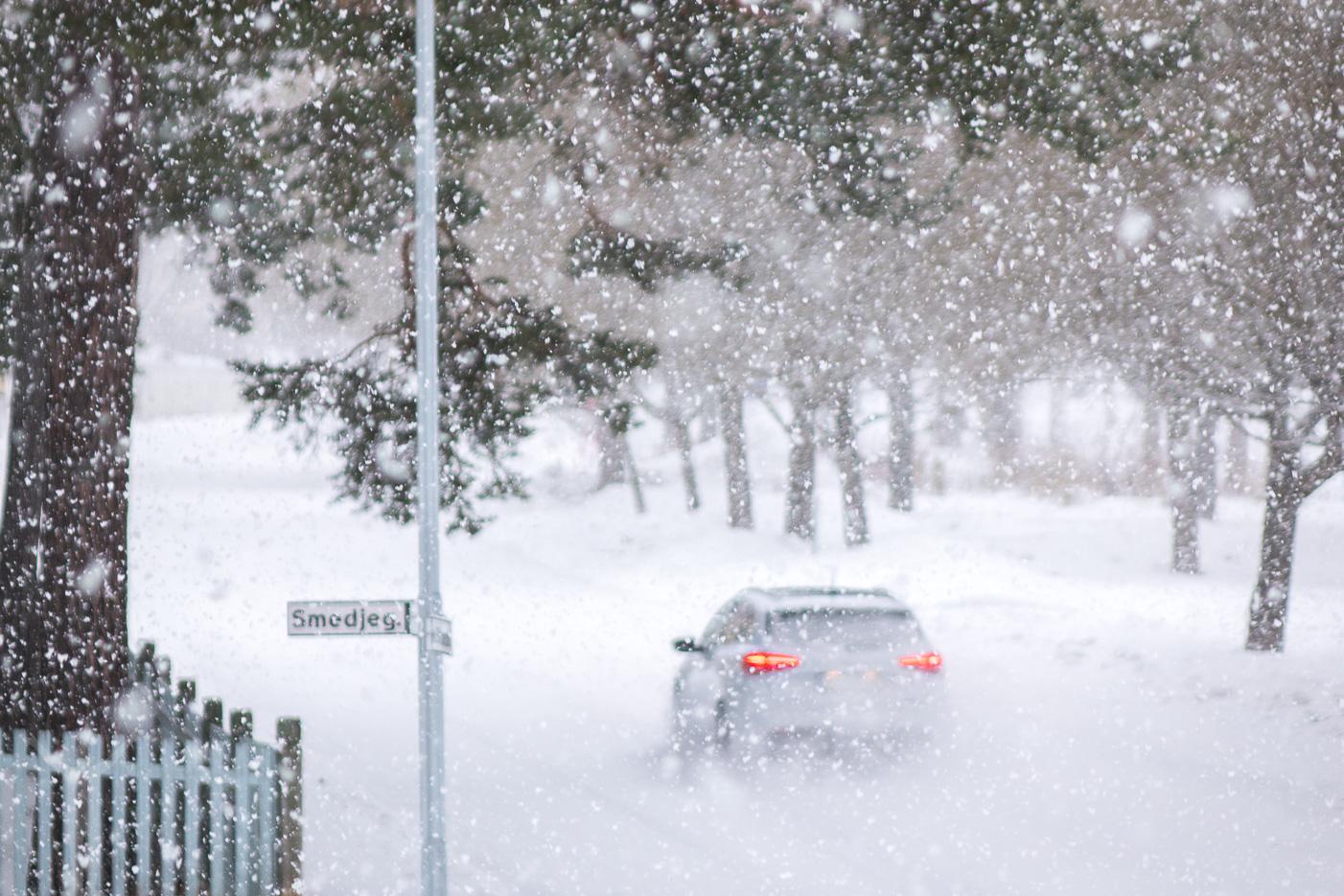 Snöig juldag
