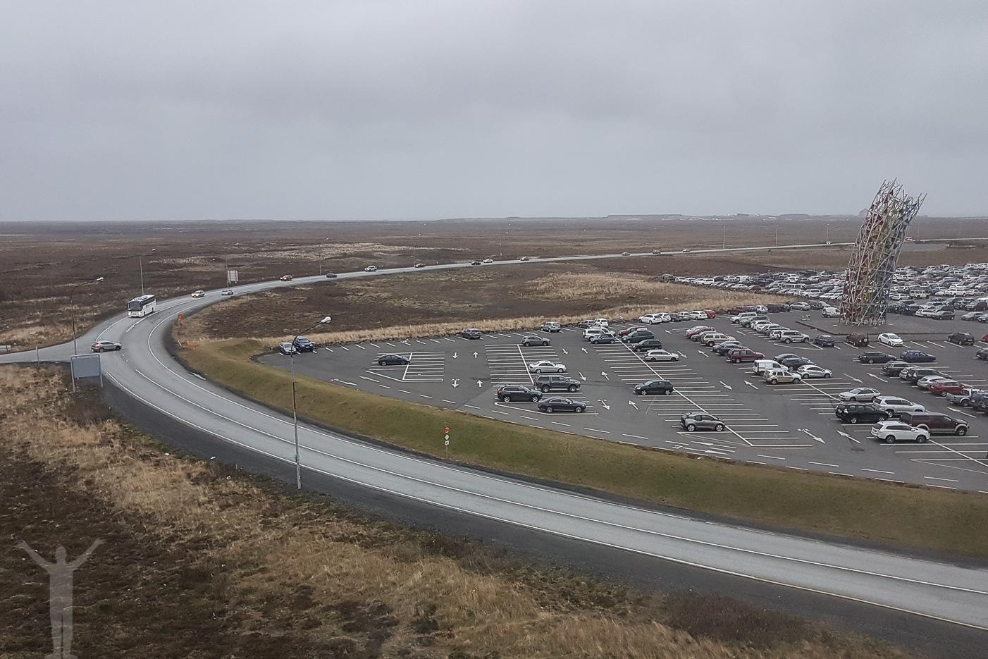 Utsikten från hotellet på Keflavik
