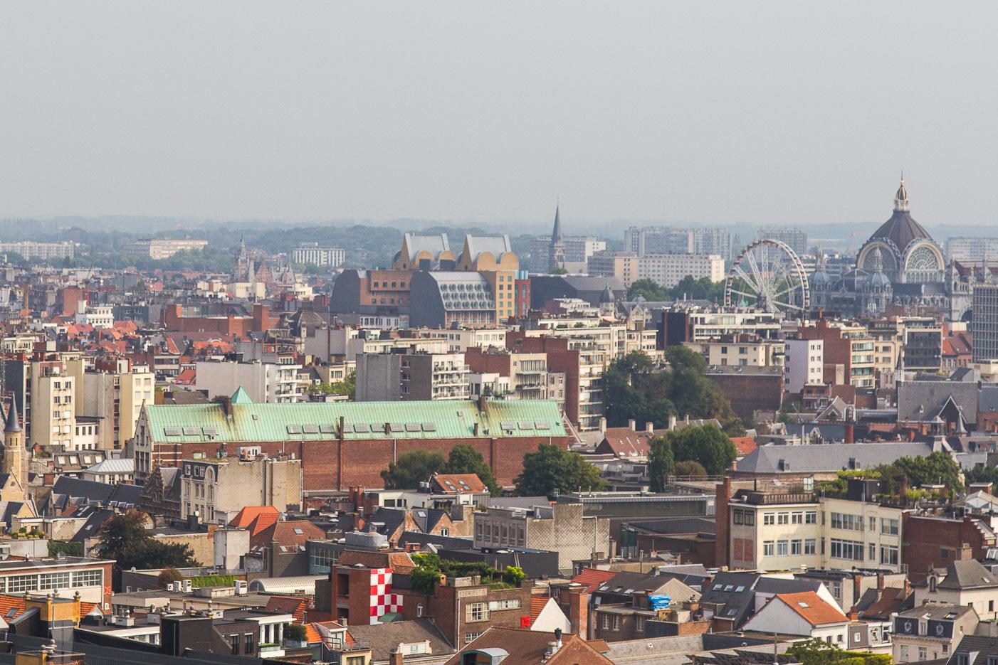 Utsikt från MAS i Antwerpen