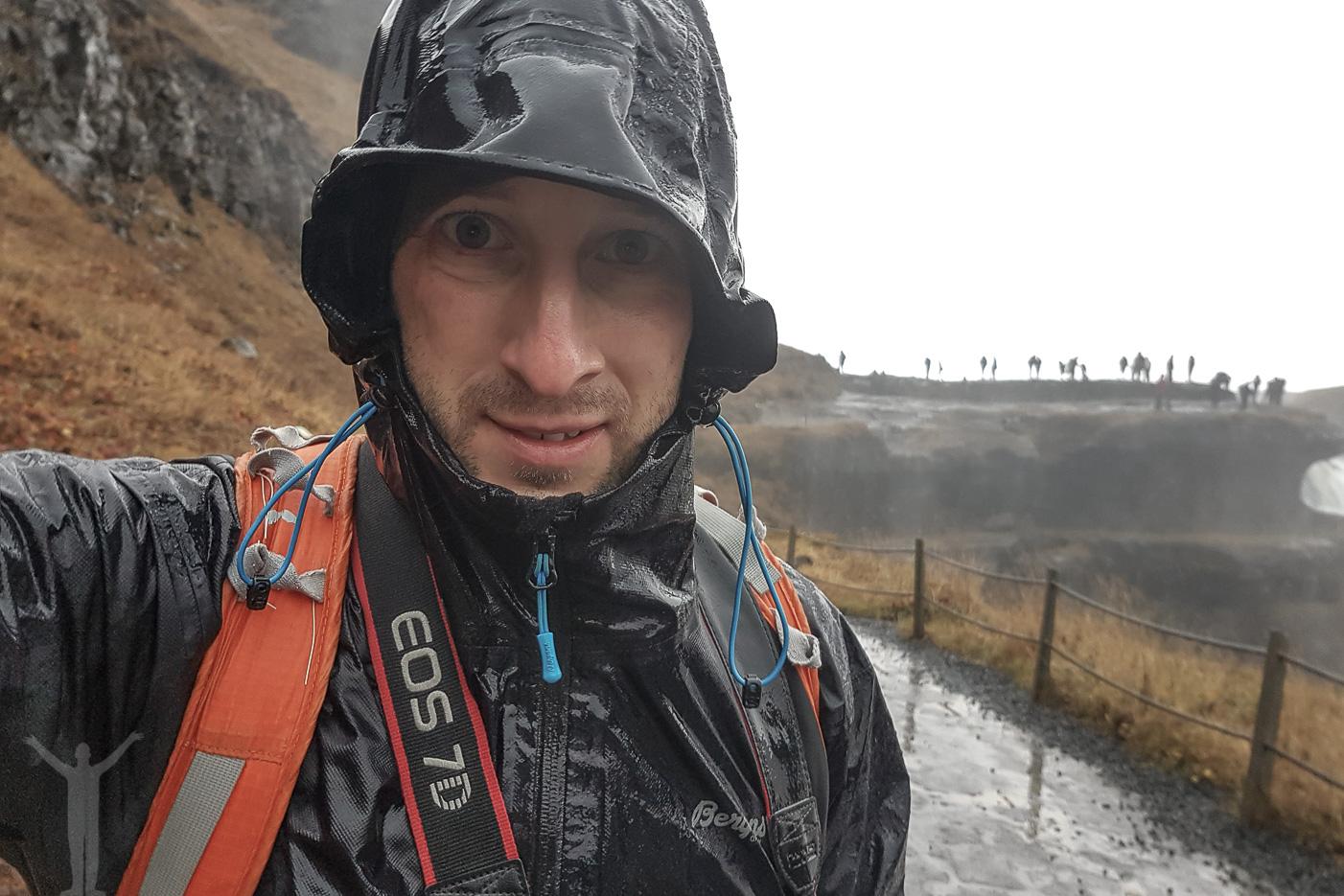 Jag själv vid Gullfoss på Island