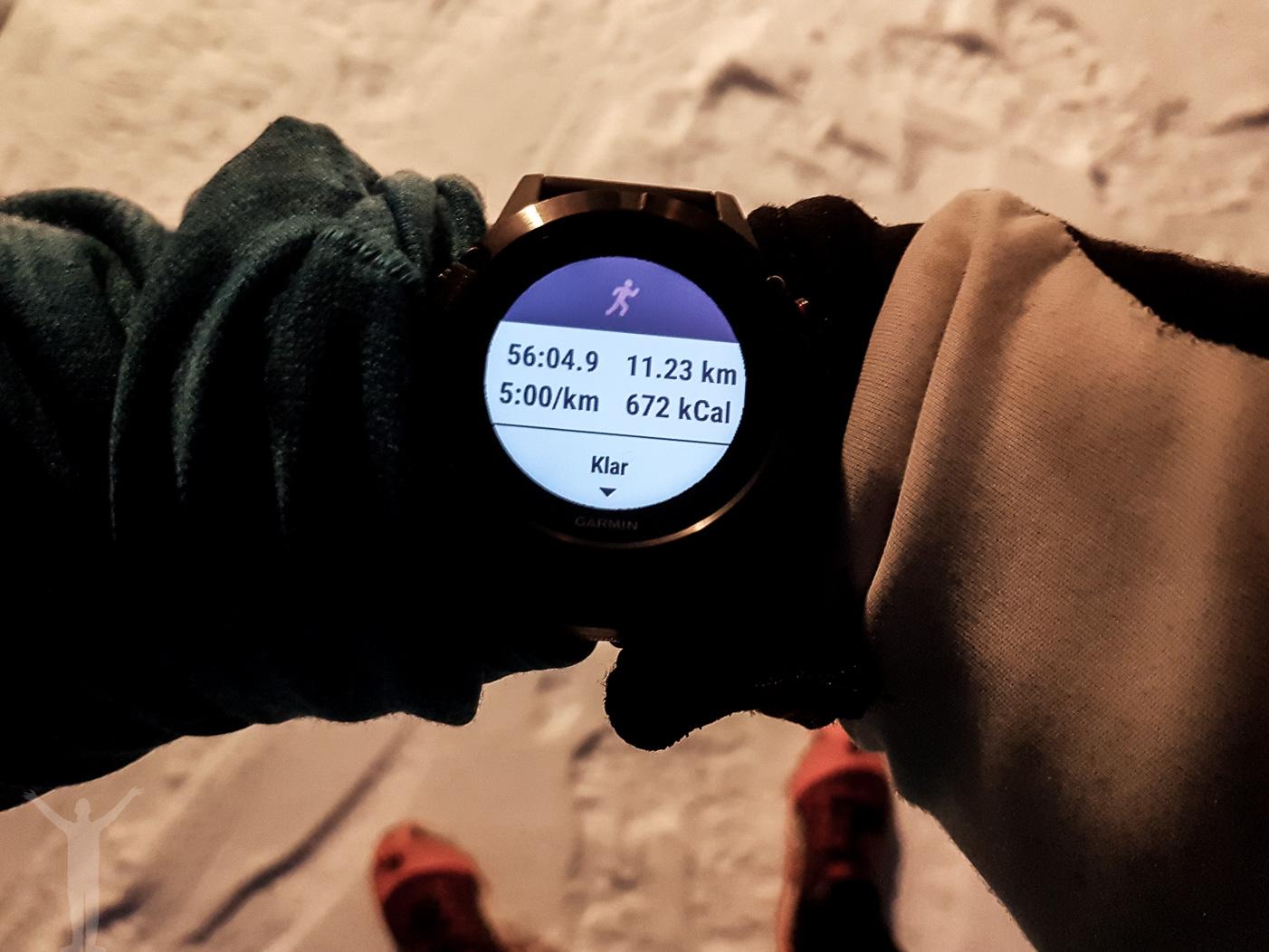 11 kilometers löpning