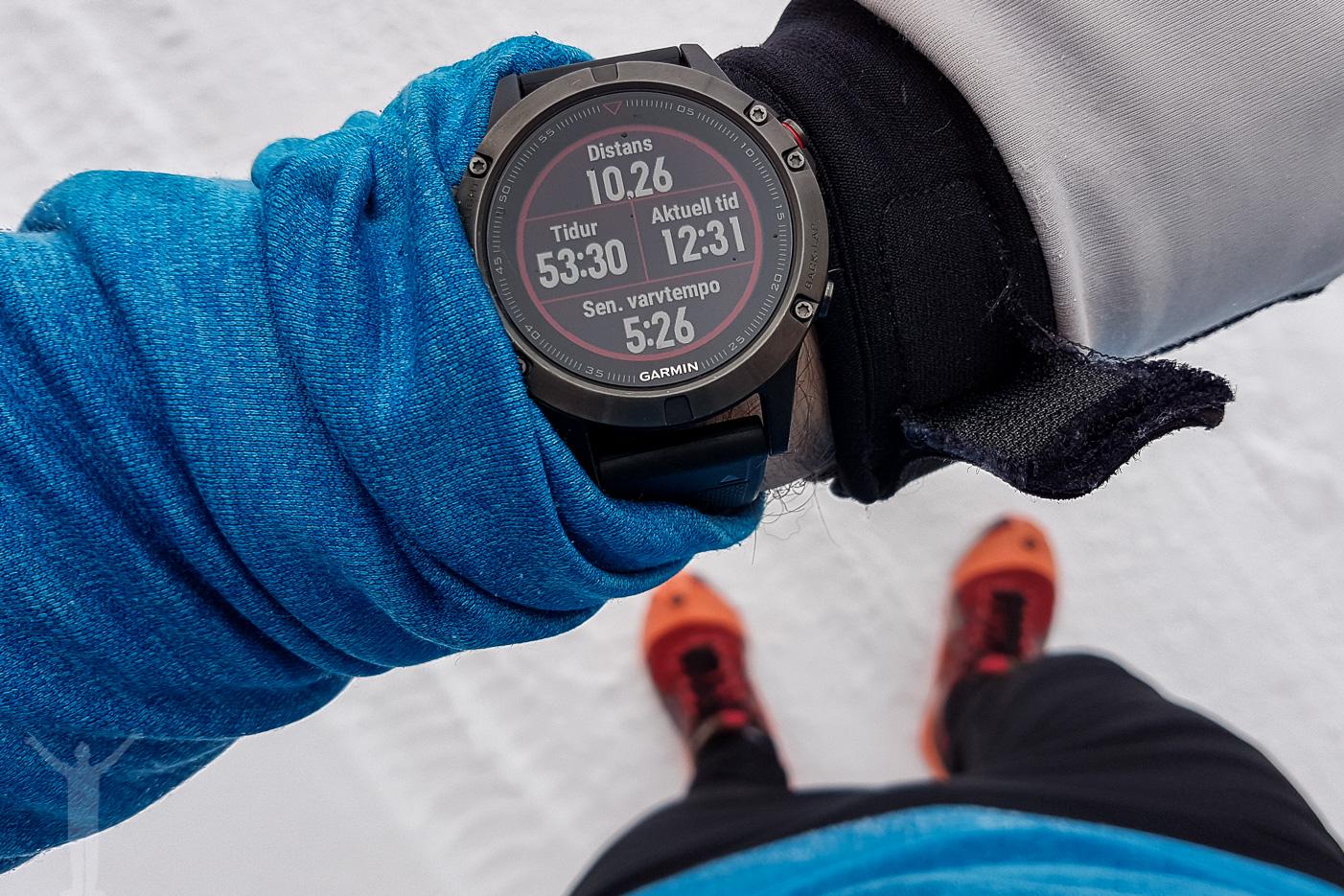 Vinterlöpning med Garmin Fenix 5