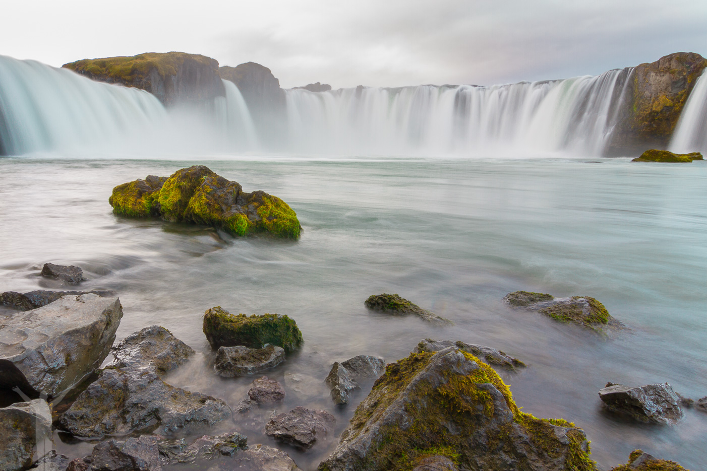 Vattenfallet Godafoss på Island