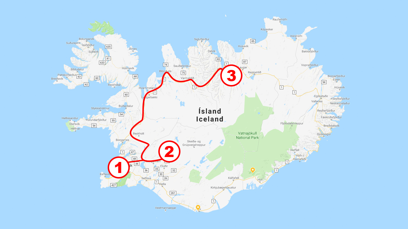 Roadtrip på Island