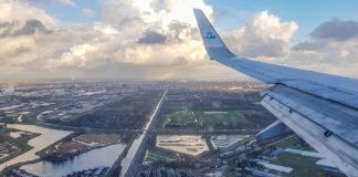 Inför landning på Schiphol
