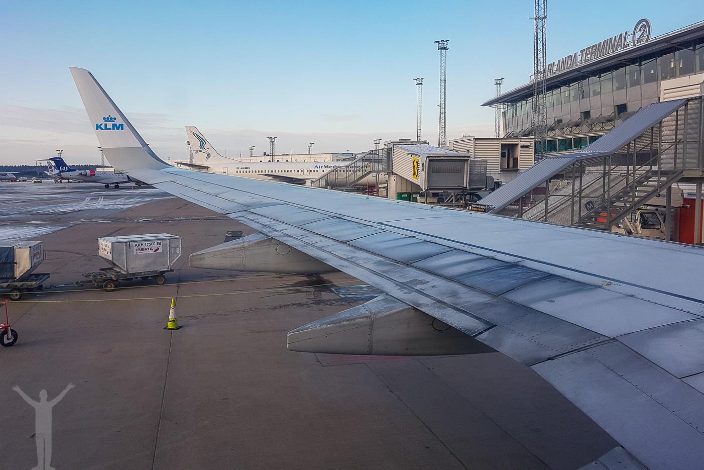 Att flyga med KLM till Amsterdam