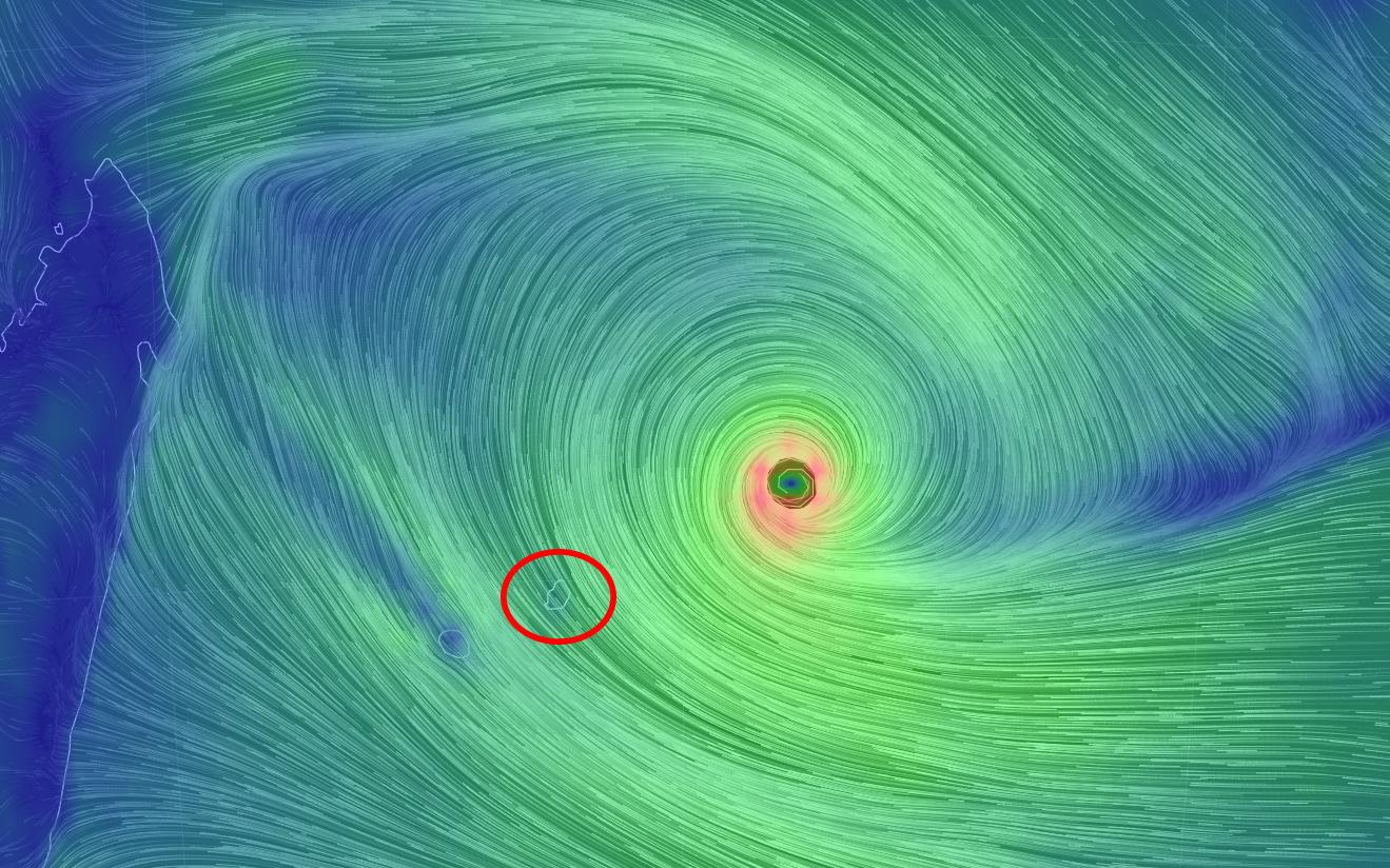 Cyklon på Mauritius