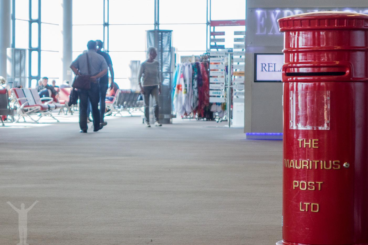 Postbox på flygplatsen