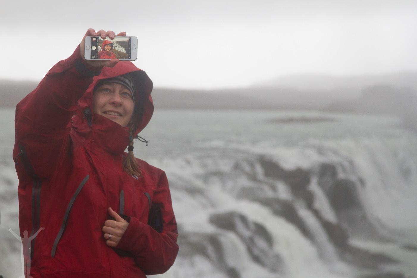 Vattenfallet Gullfoss på Island