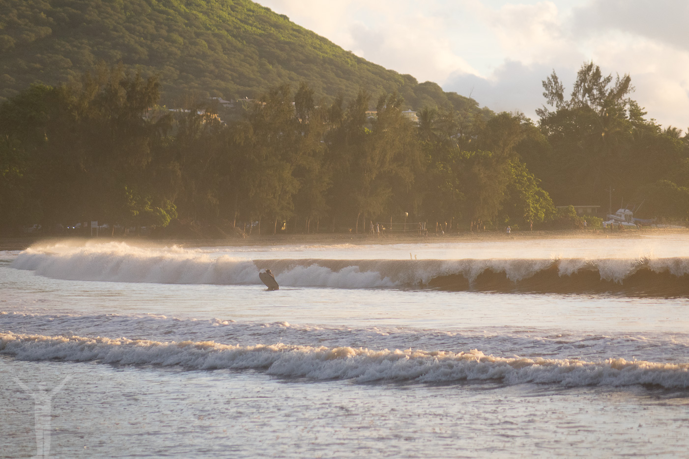 Surfning på Mauritius