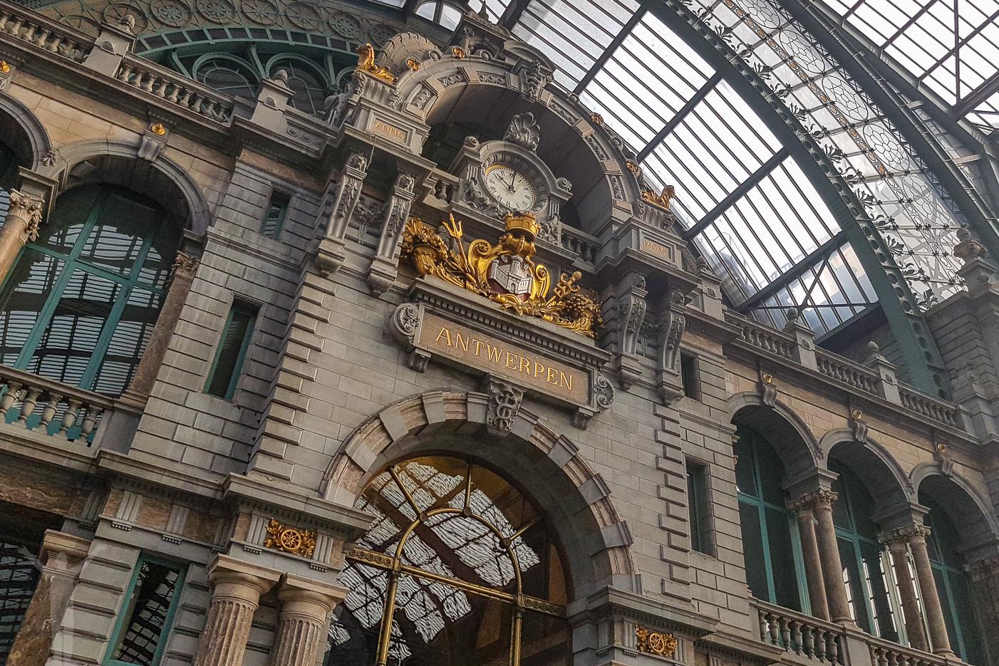 Världens vackraste tågstation i Antwerpen