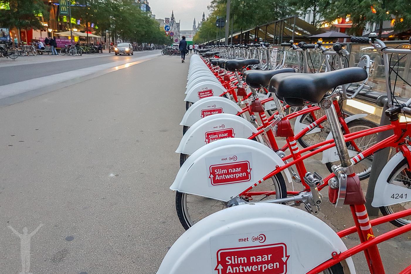 Hyr en cykel i Antwerpen