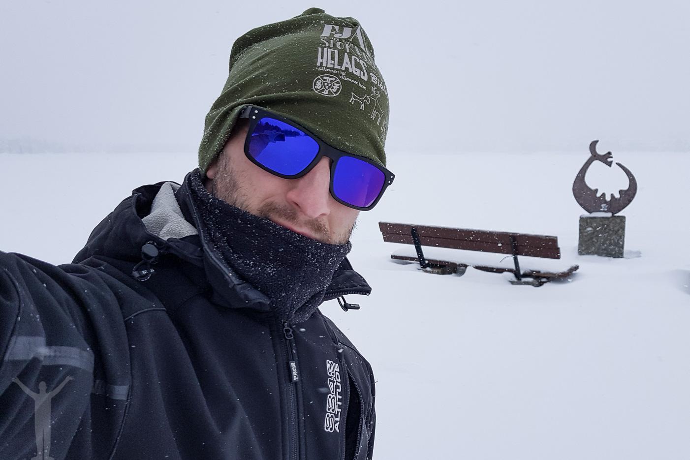 Dryden i ett snöigt Östersund