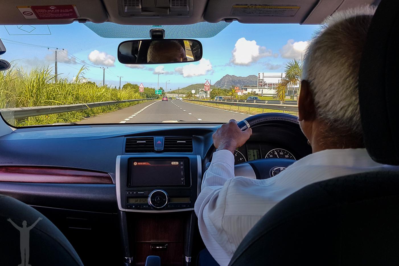 Egen taxi på Mauritius