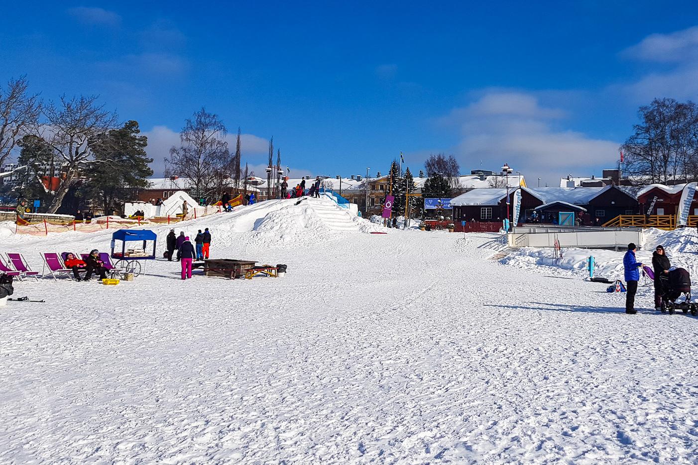 Badhusparken och Vinterparken i Östersudn