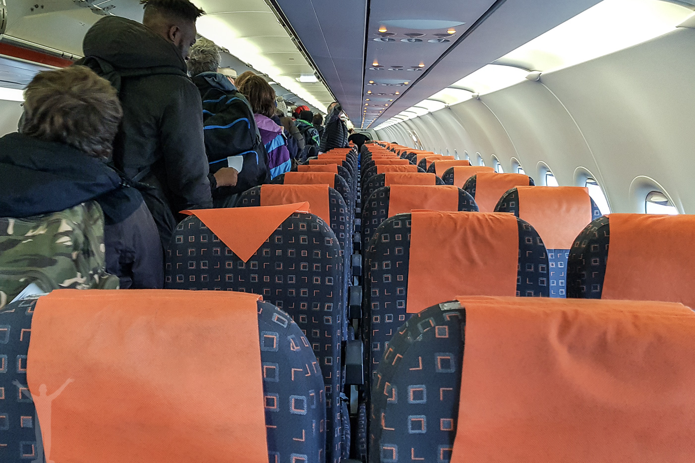 Easyjet kabin i en A320