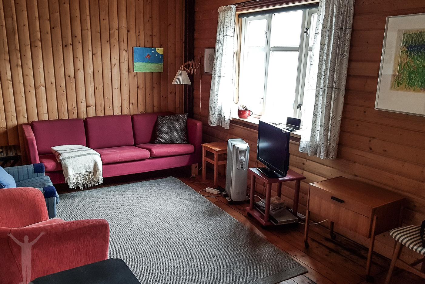Vardagsrummet i vårt hus