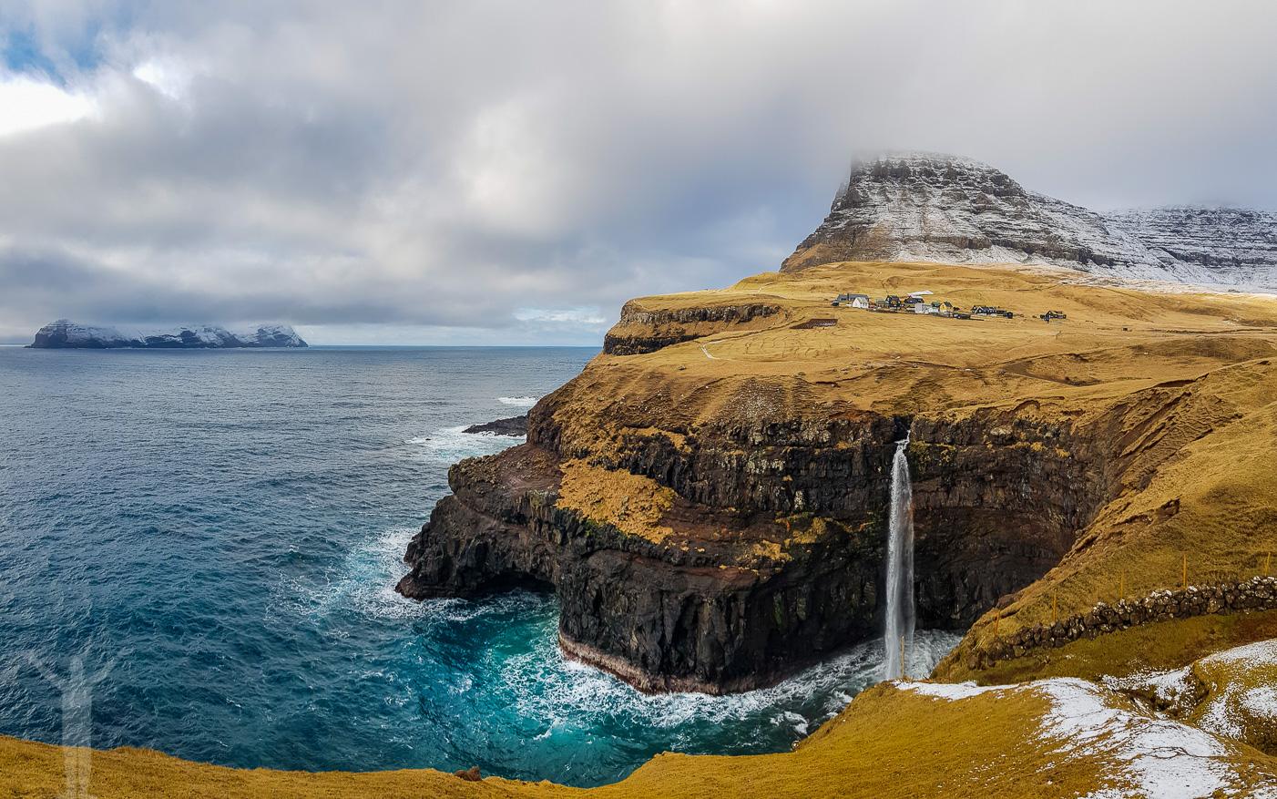 Vattenfallet Mulafossur på Färöarna