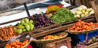 Matmarknad i Port Louis