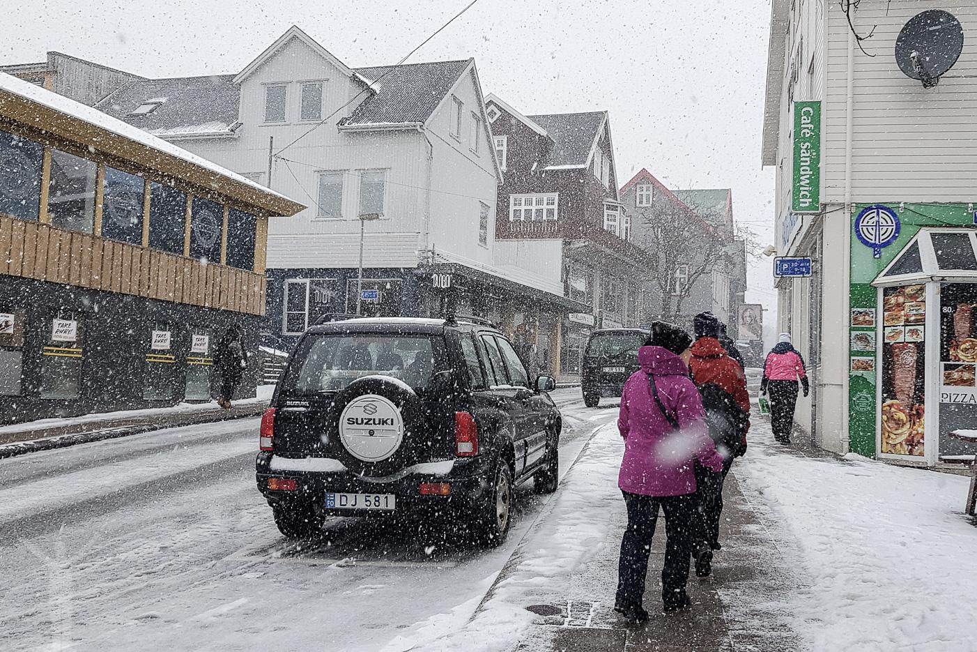 Snö i Torshamn