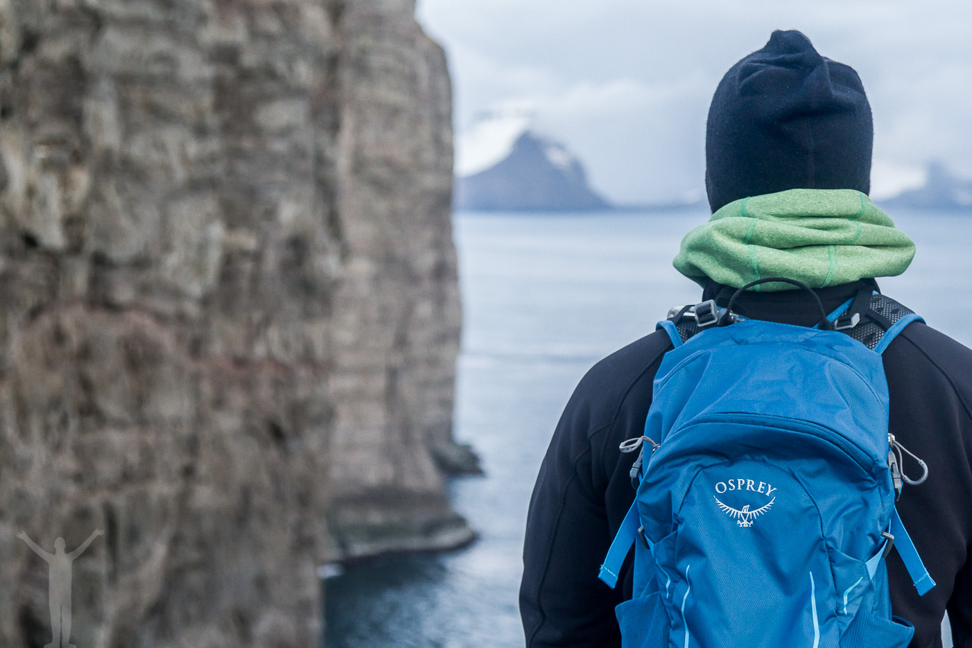 Hikelite 18 från Osprey på dagstur på Färöarna
