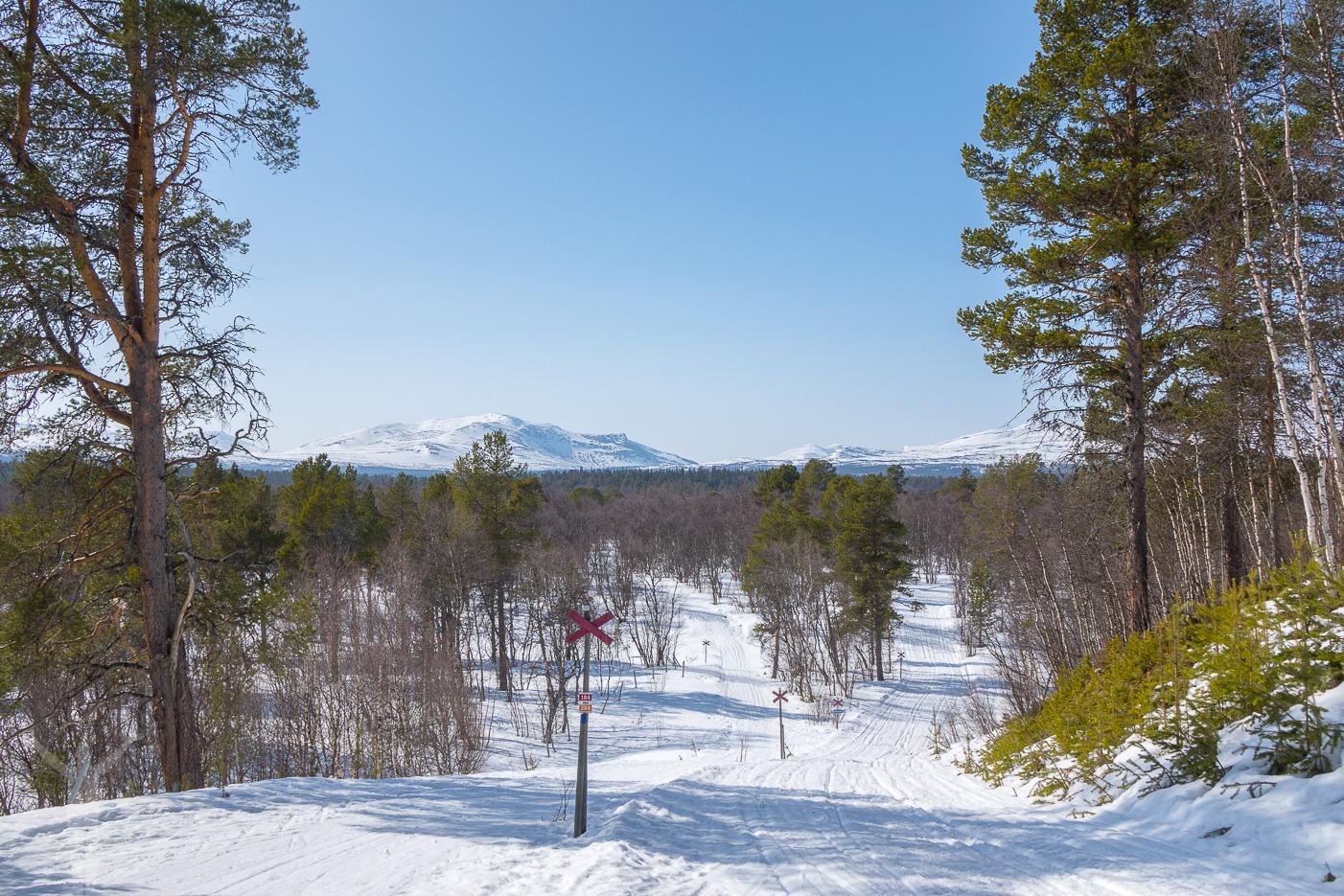 Vårvinter i Vålådalen, Jämtland