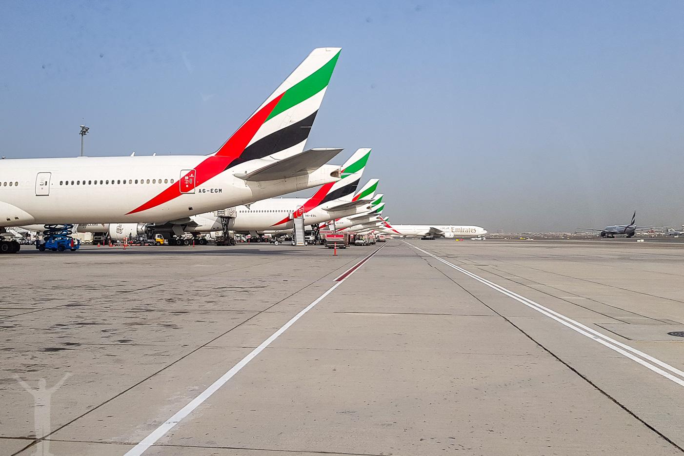 Långdistansflygplan i Dubai