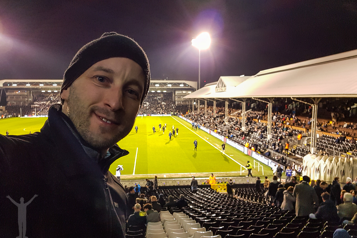 Fotbollsmatch på Craven Cottage