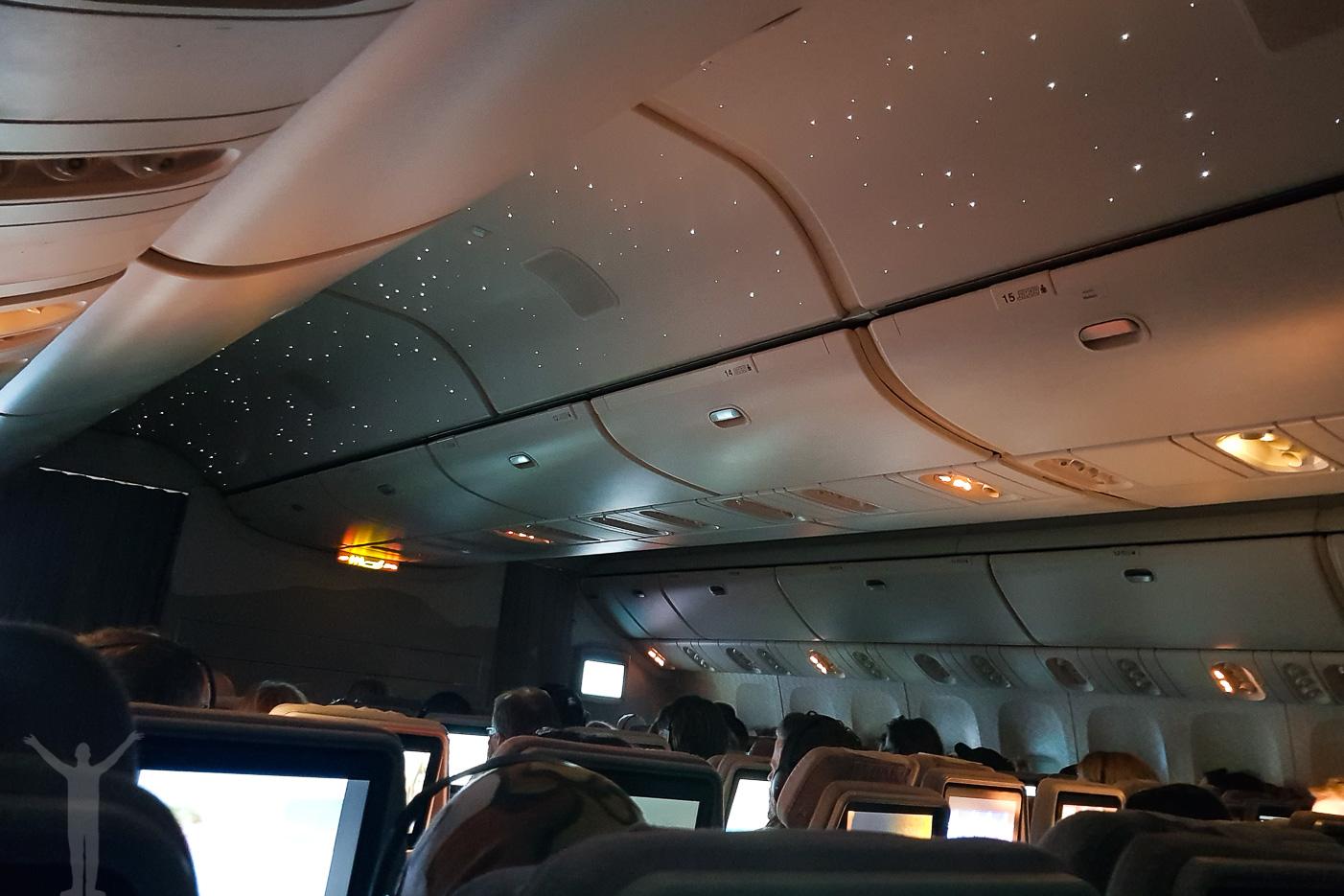 Stjärnhimmel i kabinen