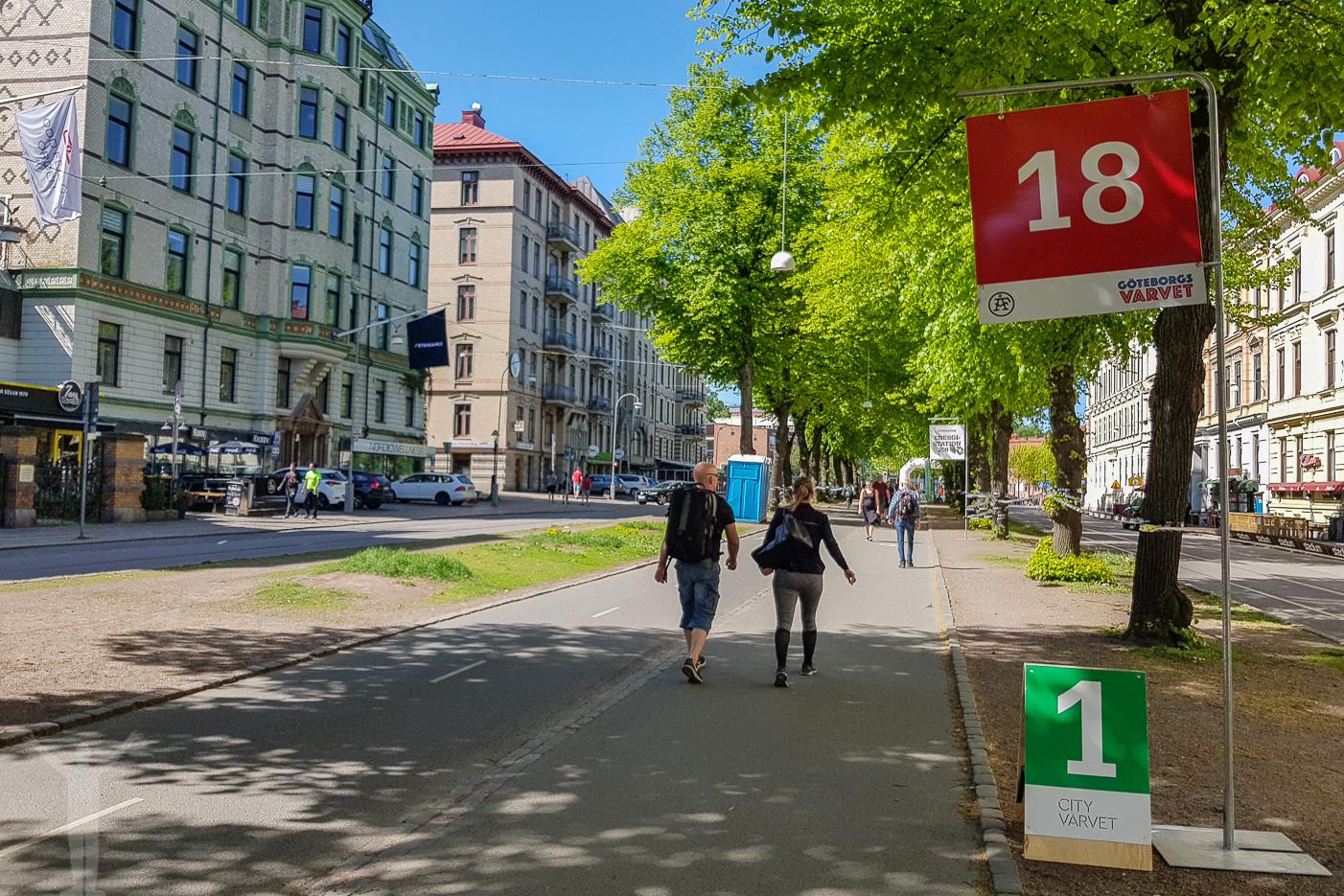 18 kilometersmarkeringen på Vasagatan