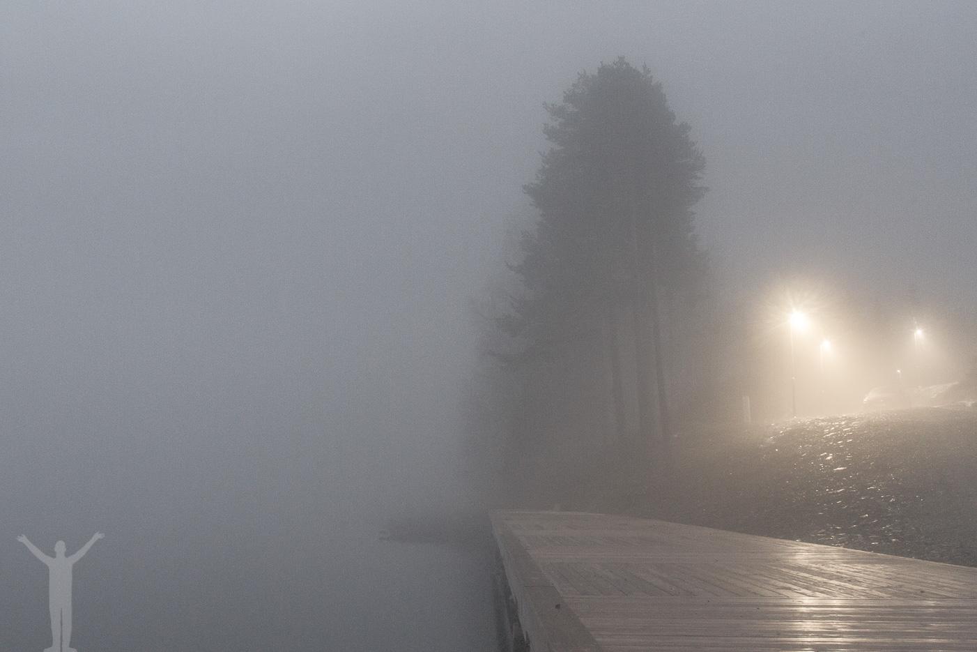 Skymning och dimma vid Mose backe