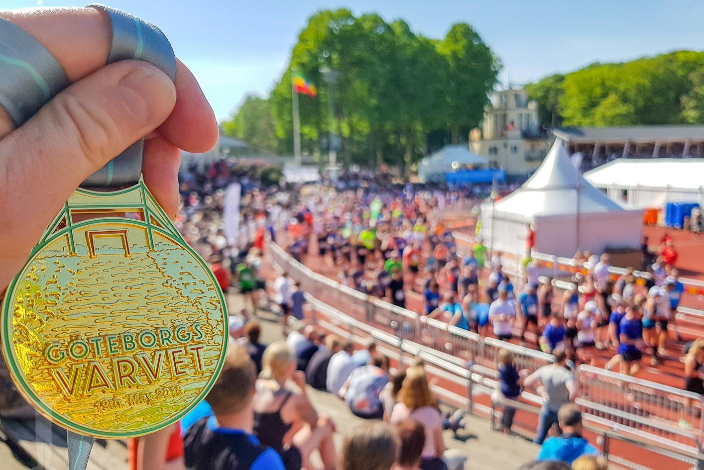 1.50.16. Medaljen uthämtad. Göteborgsvarvet avklarat.