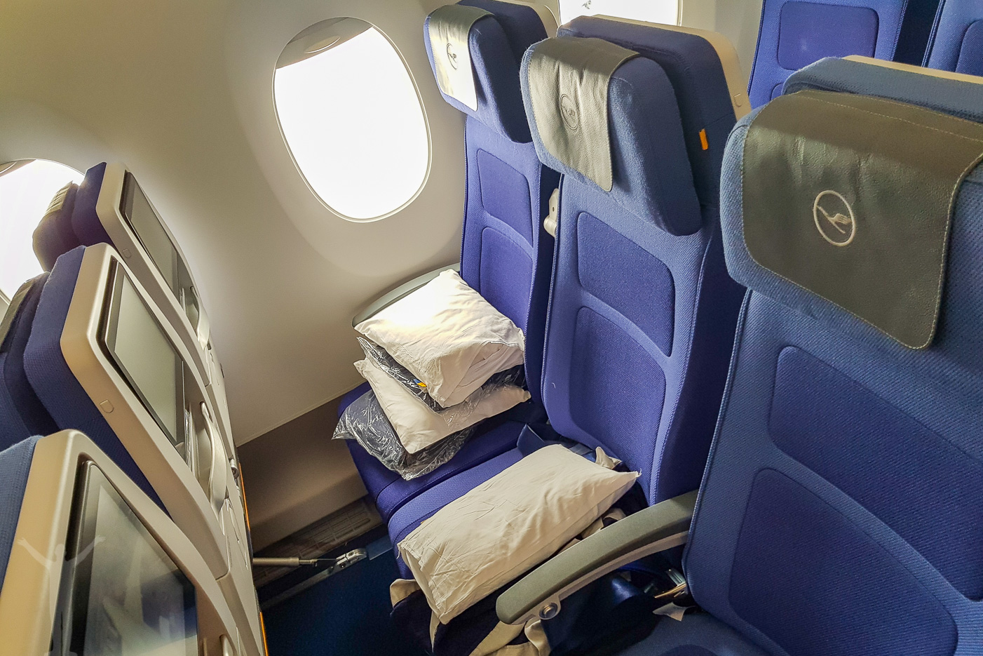 Ekonomiklass på Lufthansa A350