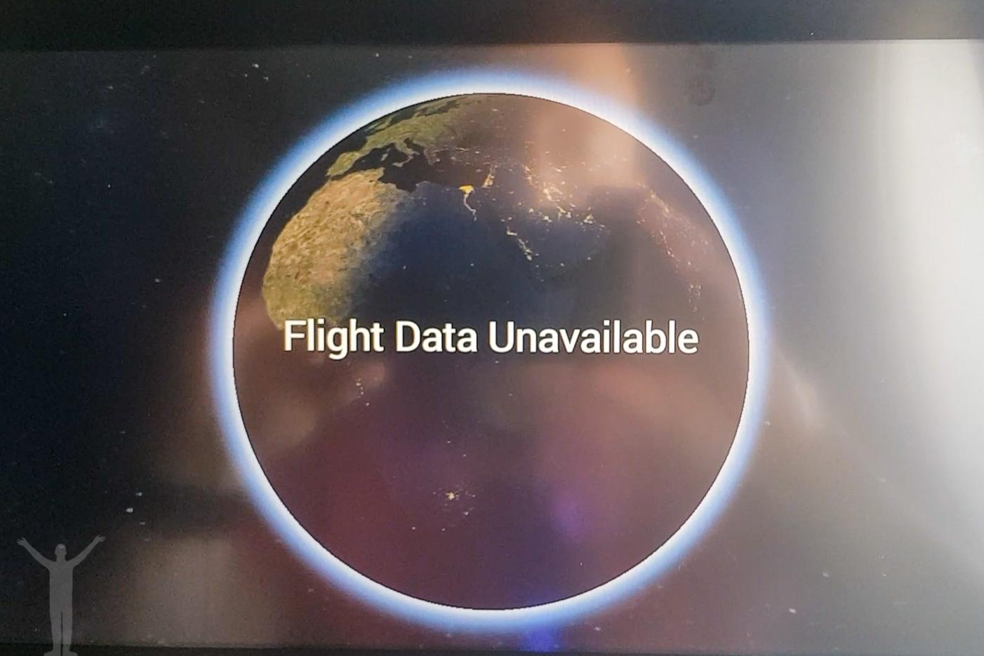 Lufthansas IFE - ingen flyginformation