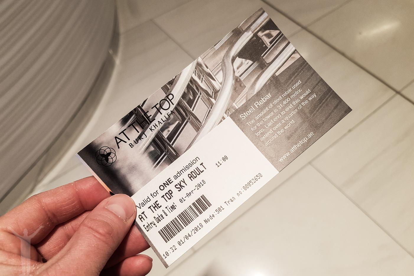Biljett till Burj Khalifa