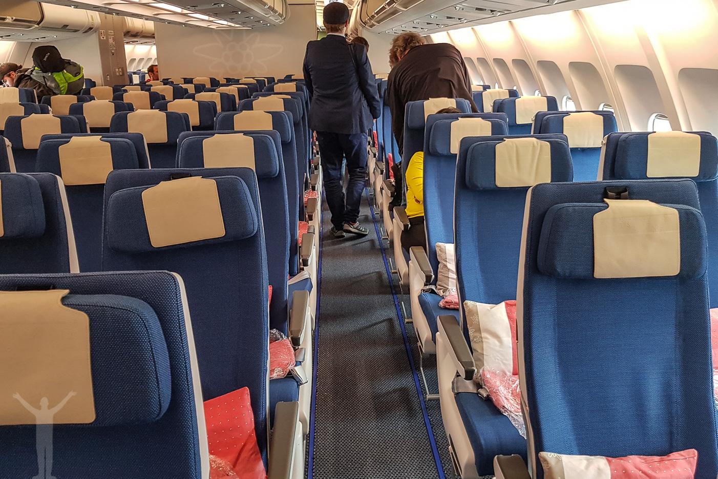 Ekonomiklass på Edelweiss Air A340-313