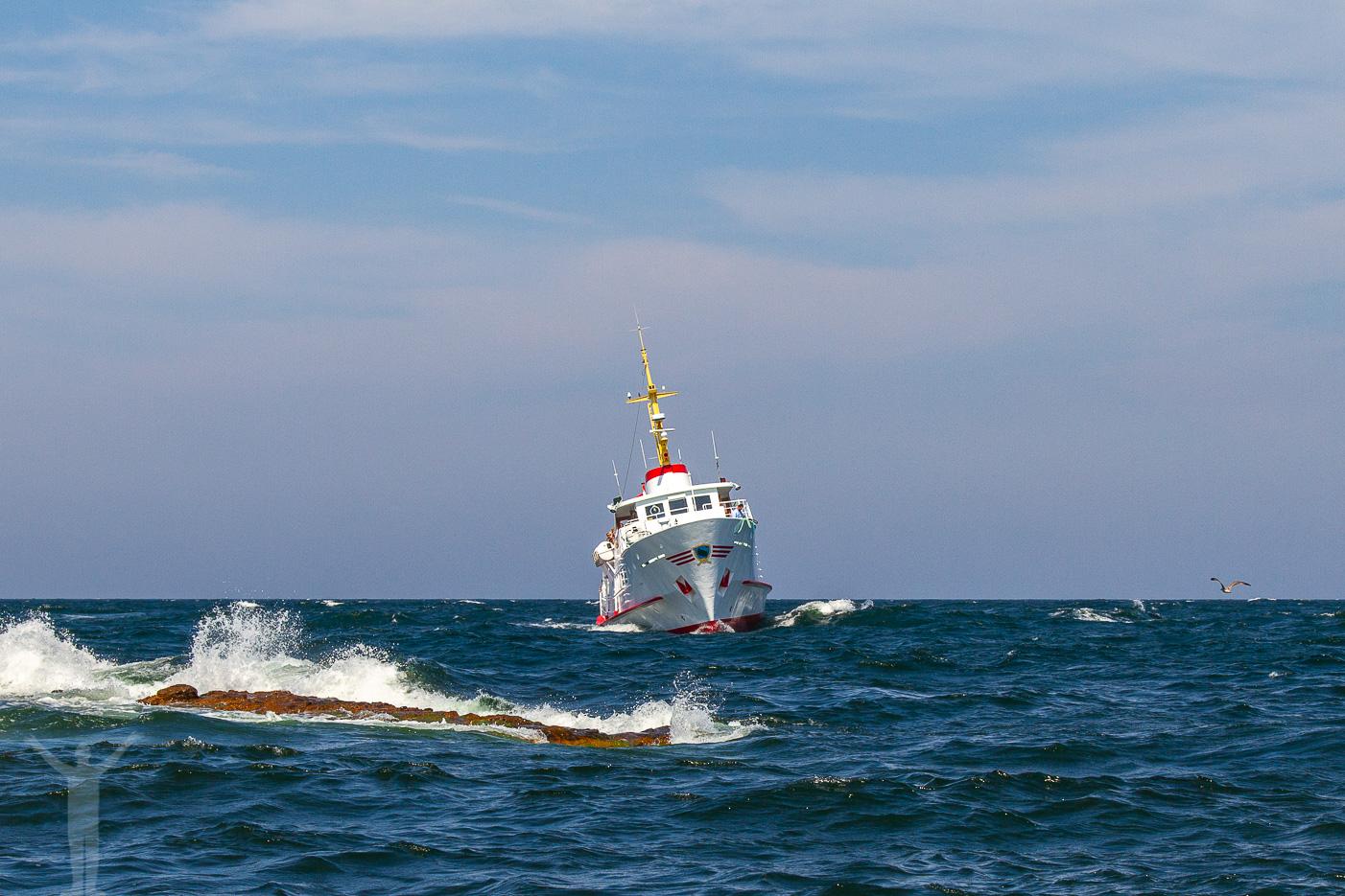 Båten till Christiansø från Bornholm