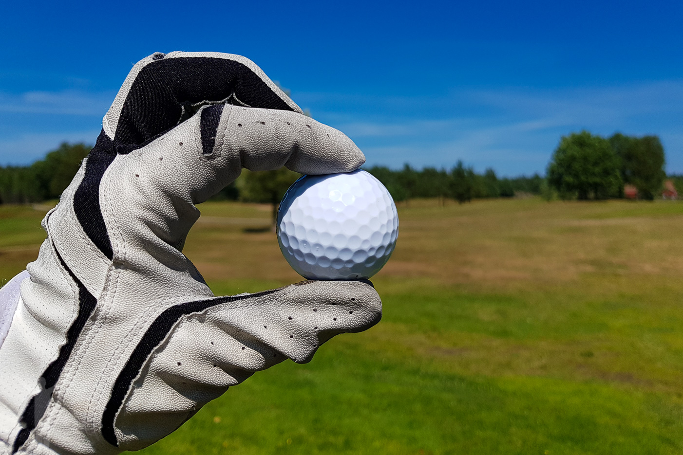 Golfboll på Koberg