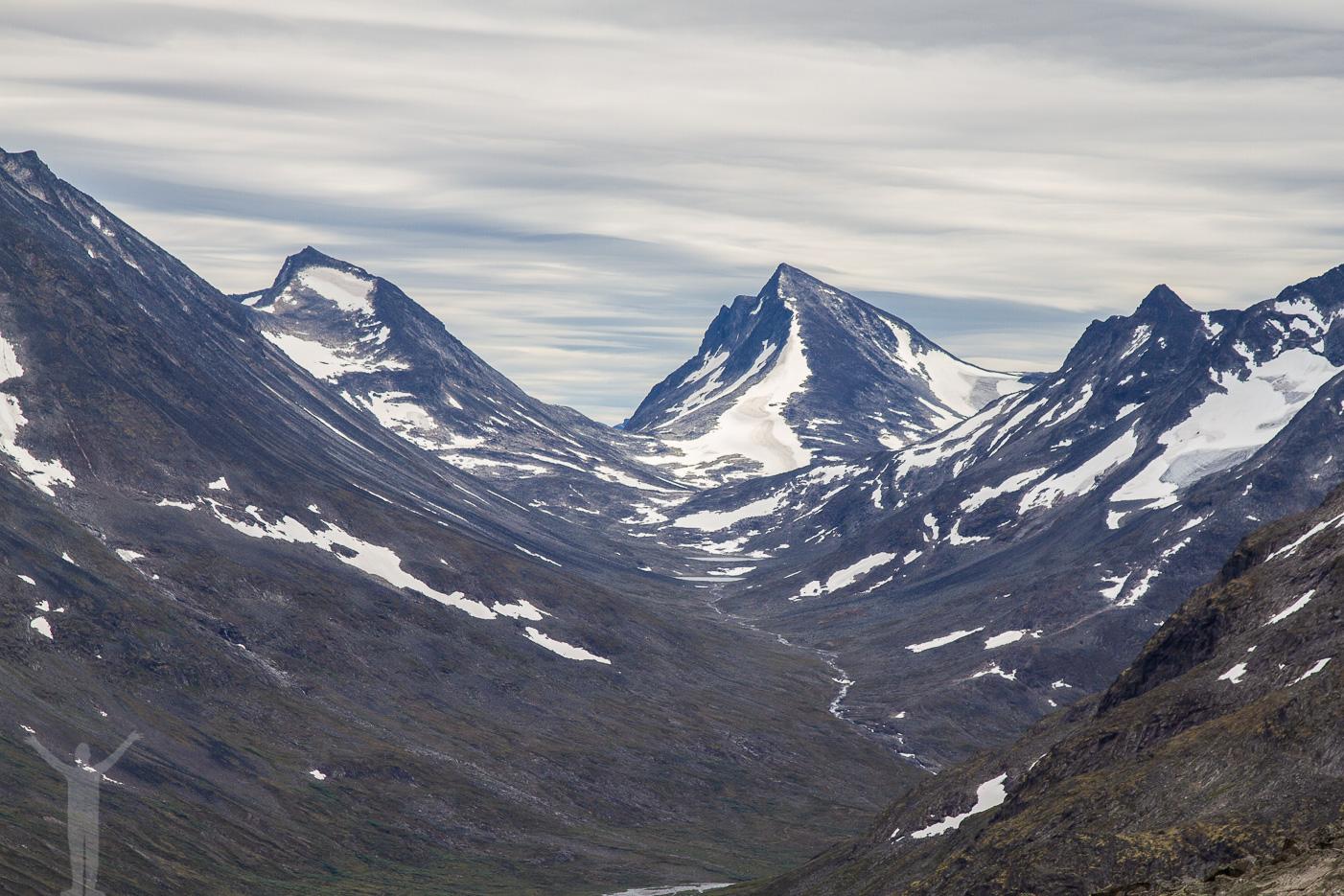 Norska fjäll i Jotunheimens nationalpark.