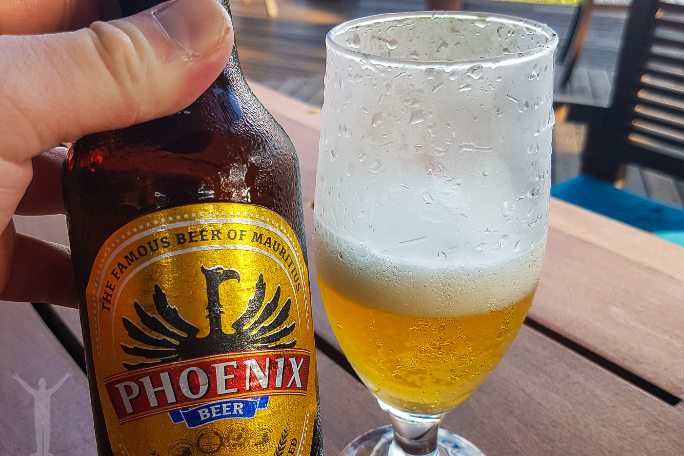 En öl vid golfbanan.