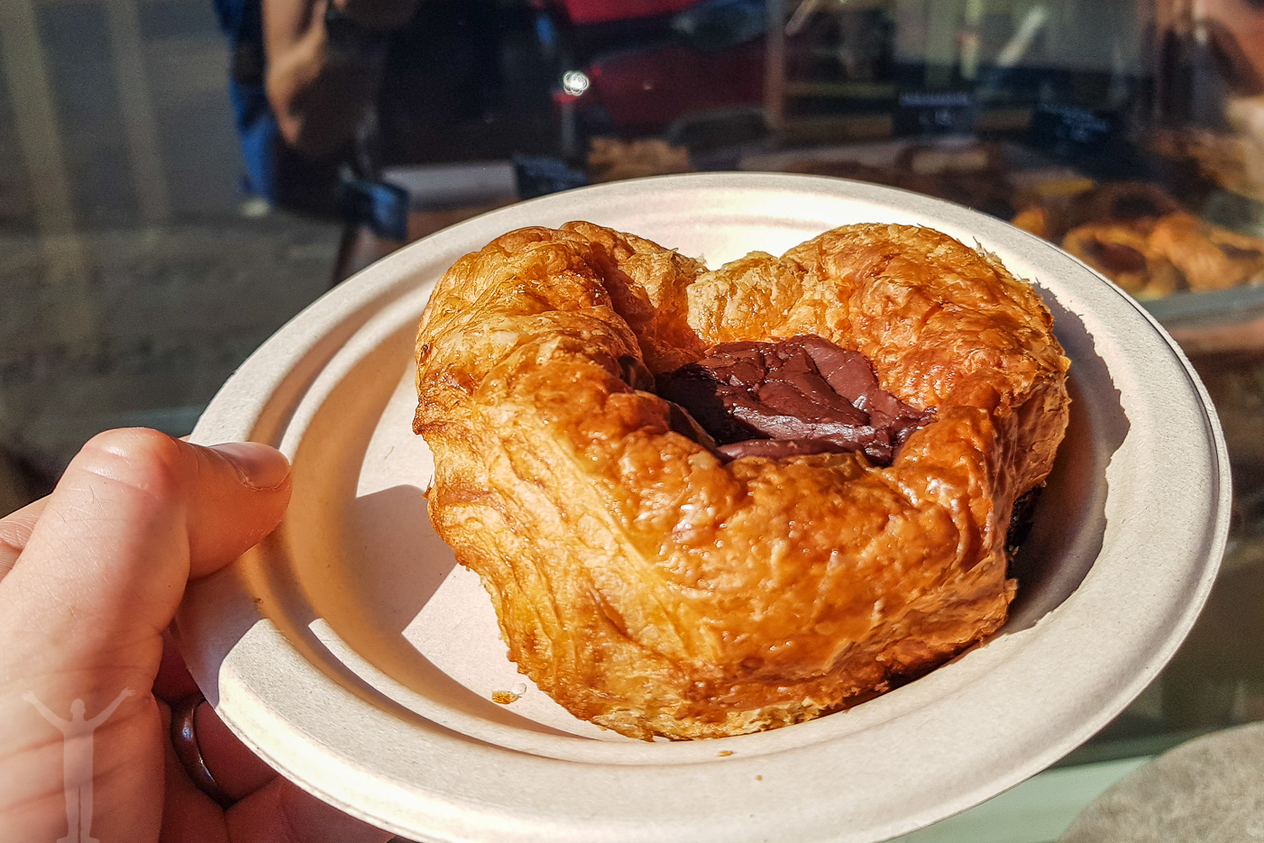 Wienerbröd med choklad i mitten