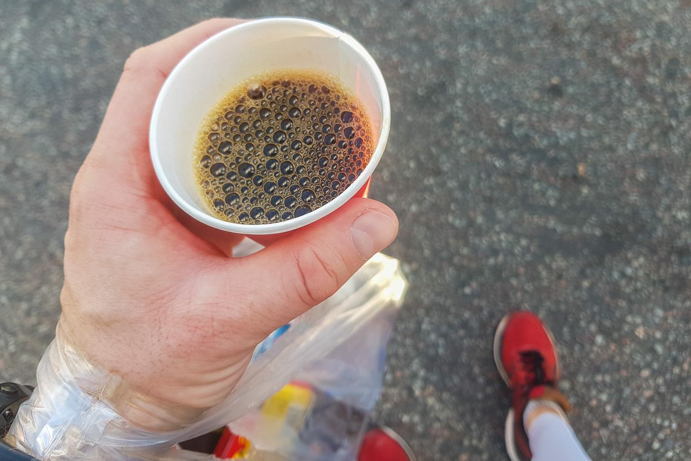 Kaffe efter halvmaran!
