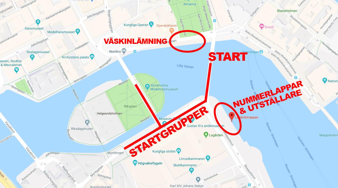 Startområdet på Stockholm Halvmarathon