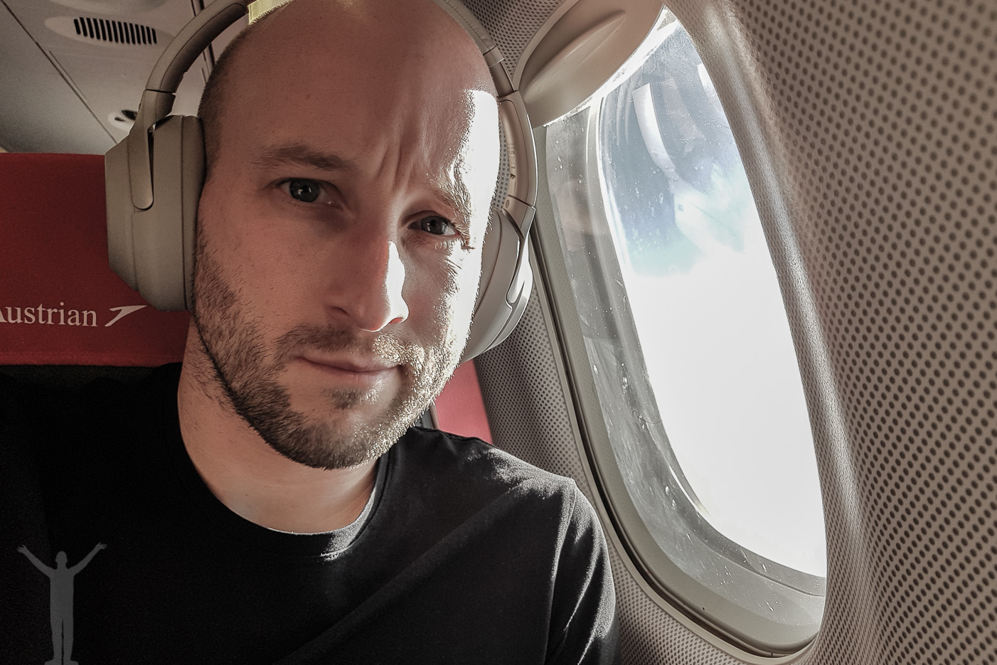 Dryden på Austrian flight OS315